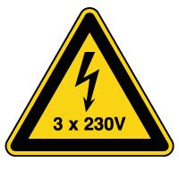 Panneau de danger risque électrique 3x230V