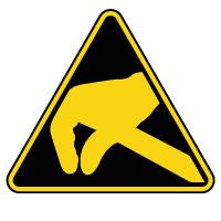 Panneau de danger électrostatique