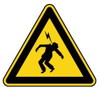 Panneau de danger électrique haute tension