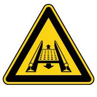 Panneau de danger installation rotative