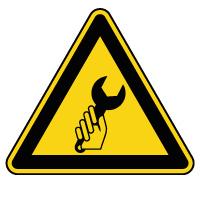 Panneau de danger maintenance en cours