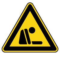 Panneau de danger risque d'asphyxie