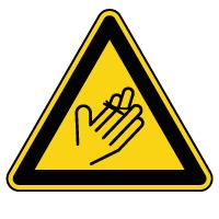 Panneau de danger risque de coupure