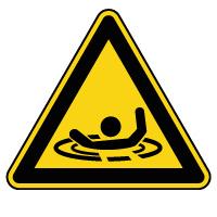 Panneau de danger risque de noyade