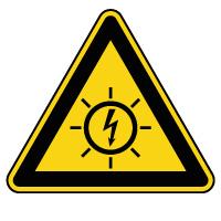 Panneau de danger risque photovoltaïque