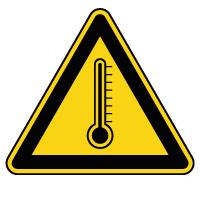 Panneau de danger risque thermique
