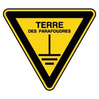 Panneau de danger terre des parafoudres