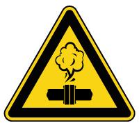 Panneau de danger vapeurs chaudes