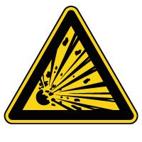 Panneau de danger matières explosives