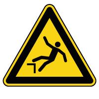 Panneau de danger risque de chute