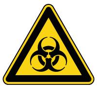 Panneau de danger risque biologique