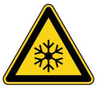 Panneau de danger basses températures
