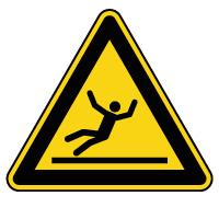 Panneau de danger surface glissante