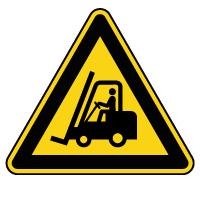 Panneau de danger véhicules industriels