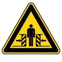 Panneau de danger risque d'écrasement