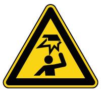 Panneau de danger obstacle en hauteur