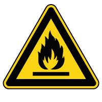 Panneau de danger matières inflammables