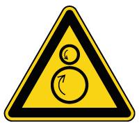 Panneau de danger rouleaux contrarotatifs
