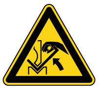 Panneau de danger écrasement des mains