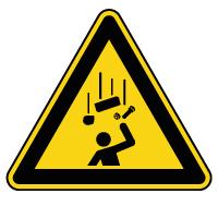 Panneau de danger chute d'objets