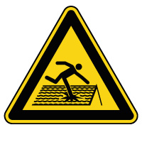 Panneau de danger toiture fragile