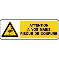 Panneau de danger horizontal risque de coupure