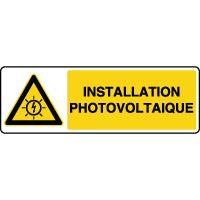 Panneau de danger installation photovoltaïque