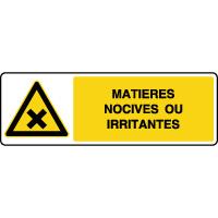 Panneau danger horizontal matières nocives ou irritantes