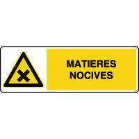 Panneau de danger stockage de matières nocives