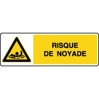 Panneau de danger horizontal risque de noyade
