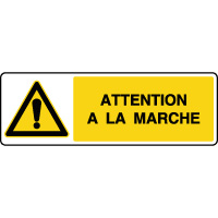 Panneau de danger attention à la marche