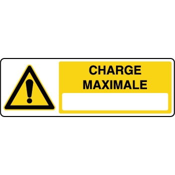 Panneau de danger charge maximale