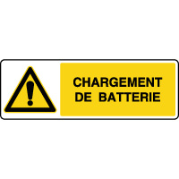 Panneau de danger horizontal chargement de batterie