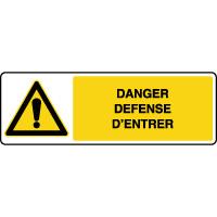 Panneau de danger défense d'entrer