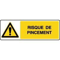 Panneau de danger horizontal risque de pincement