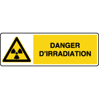 Panneau horizontal danger d'irradiation