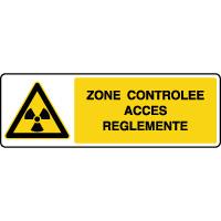 Panneau de danger horizontal zone contrôlée