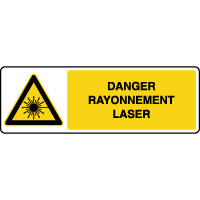 Panneau de danger attention rayonnement laser