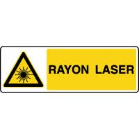 Panneau de danger horizontal rayon laser
