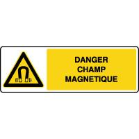 Panneau de danger horizontal champ magnétique