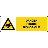 Panneau de danger horizontal risque biologique