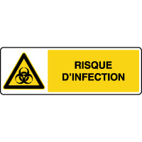 Panneau de danger horizontal risque d'infection