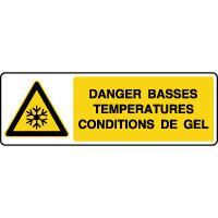 Panneau de danger horizontal températures basses/gel