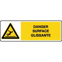 Panneau de danger horizontal surface glissante