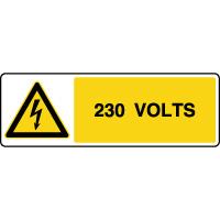 Panneau de danger horizontal risque électrique 230V
