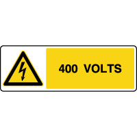Panneau de danger horizontal risque électrique 400V