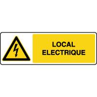 Panneau de danger horizontal local électrique