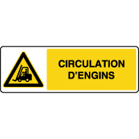 Panneau de danger circulation d'engins
