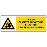 Panneau de danger chariots et véhicules industriels