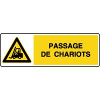 Panneau de danger passage de chariots